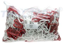 25m absperrkette kunststoff 6mm rot weiss warnkette plastikkette kunststoffkette thal versand. Black Bedroom Furniture Sets. Home Design Ideas
