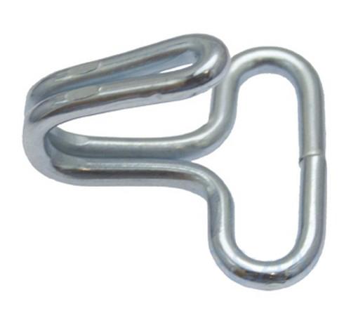 THM 10er Pack Drahthaken 20 x 26mm Stahl verzinkt Spanngurt Haken