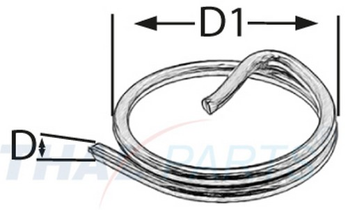 100 Stück Ringsplinte 2,0 x 25mm Edelstahl V4a Sicherungsringe Ring Splint Niro