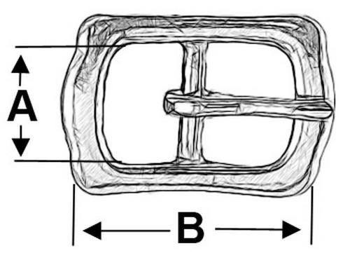 Stegschnalle 10er Pack Islandschnalle #123 12mm Messing vern