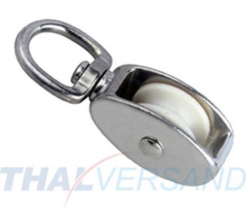Blockseilrolle mit Wirbel 30mm f. Seil 8mm Seilrolle Umlenkrolle ...