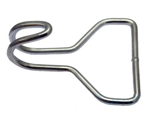 10er Pack Drahthaken 50 x 74mm Stahl verzinkt Spanngurt Haken - THAL ...