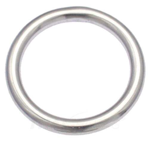 Schlaufe für Gurtband vernickelt 10 Stück Schlaufen 12mm x 6 x 2,2 Rund Stahl