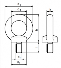 Ringschraube M6 Din 580 Stahl Verzinkt Ringschrauben Din580