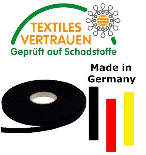 2 Steckschnallen//Schieber//Schlaufen Schwarz PP 50mm breit 5 m-Rolle Gurtband