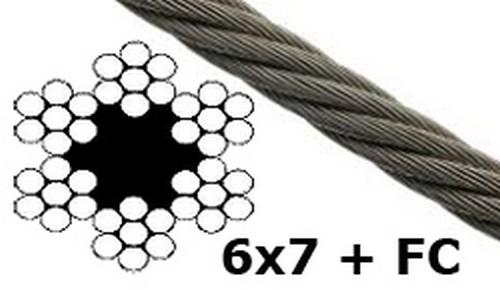 100m drahtseil 6mm 6x7 stahlseil windenseil seil draht. Black Bedroom Furniture Sets. Home Design Ideas
