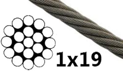 Drahtseil 1mm 1x19 Stahlseil Windenseil Seil Draht verzinkt - THAL ...