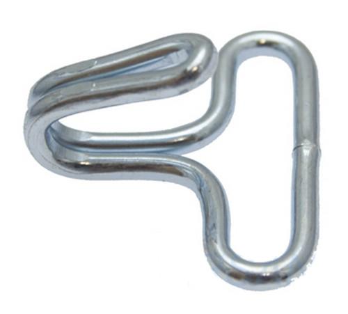 THM 10er Pack Drahthaken 30 x 26mm Stahl vernickelt Spanngurt Haken