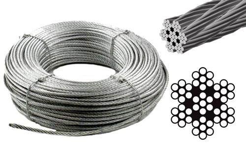 100m TRANSPARENT PVC Drahtseil 1mm-8mm Draht Seil Seile ummantelt Stahlseil 5m