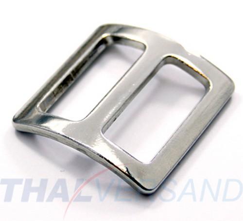 20mm Stahl vernickelt Regulator für Gurtband 10 Stück Schieber Stopper gewölbt