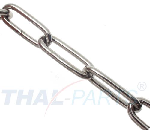 30 Meter Kette DIN 5686-C langgliedrig verzinkt 5 mm Gliederkette Stahlkette