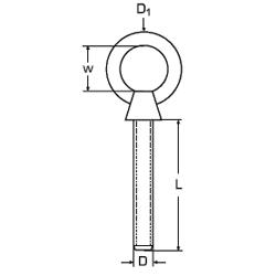 Augbolzen 10mm x 100mm Holzgewinde Edelstahl Ringbolzen Ringschraube Augschraube