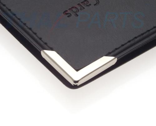 10er Pack Buchecke 16x16mm 3,5mm Füllhöhe schwarz