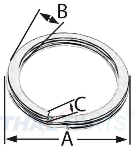 Design schl sselringe 34mm schl sselring breit thal versand for Design versand