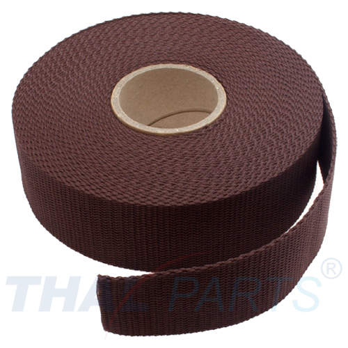 30mm breit braun 1,4mm stark 10m PP Gurtband UV