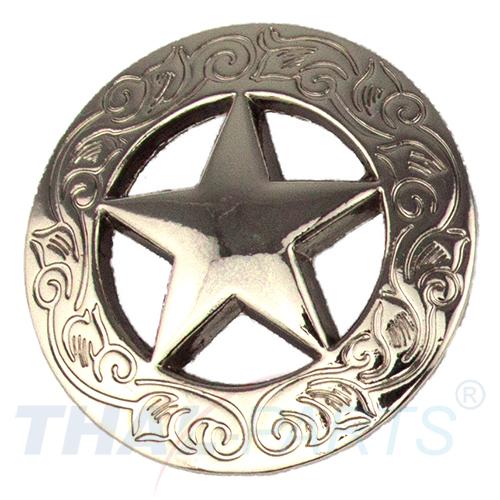 Concho #019 20mm Silbern Western Stern Star Sattel Conchos Concha ...