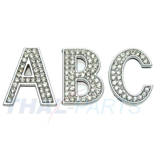 T 10 Stück Strassbuchstabe zum Aufschieben 14mm Strass Buchstabe Buchstaben