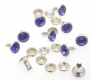 100er Pack Strassnieten Chatonnieten 6mm Royal Blau SYSTEM B
